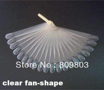 20 tips Fan-Shaped Nail Art Display Clear Chart for Polish Gel Display Tool