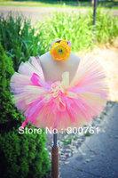 baby tutu pink todller tutu  Pink yellow Princess Petti Tutu girls tutu ballet skirt tutu skirt MOQ 1 pc