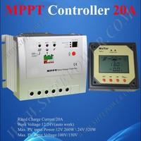 2210RN 20A Tracer MPPT Solar Controller With MT-5 Remote Meter, 20AMPS 12V 24V Auto MPPT PV Panel Battery Charge Regulators