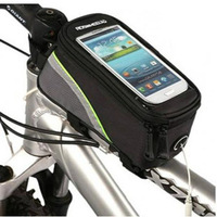 New Mini Bicycle Cycling Frame Pannier Front Tube PVC material Pouch  Pack Case For Cell Phone Bag Bike phone bag For 4.8 inches