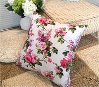 Active Printed cushion cover square pillowcase office chair Canvas cushion set decorative for sofa 45*45cm