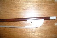Nice Baroque violin bow 4/4 snake wood , bone frog