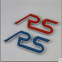 Ford Focus modified RS decorative stickers personalized car aluminium stickers metal side of the label