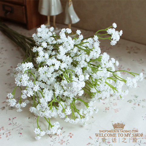 Free shipping! Artificial flower bridal bouquet props home decoration flower long fresh white mantianxing(China (Mainland))