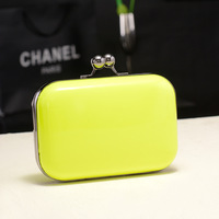 2013 neon color evening bag day clutch women's handbag chain bag messenger bag female bags