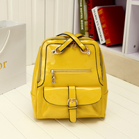 Backpack school bag students backpack preppy style travel bag bright japanned leather bag laptop bag