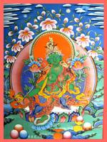 Tibetan thangka - green tara