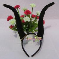Free shipping 6.1 Christmas halloween hair accessory black horn headband