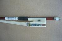 1PC Top Grade White Bone Violin Bow 4/4 Size ,Brazilwood
