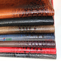 Crocodile pattern leather artificial leather sliding door soft bag fabric sofa   leather skin diy fabric