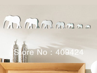 Free shipping!Animal Home decoration crystal 3D wall stickers decoration supplies acrylic art  wall stickers fa-007