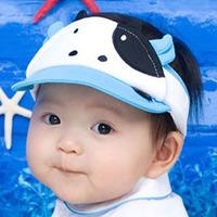 Summer child cartoon milk cow mesh baby sun hat visor sun hat soft adjustable