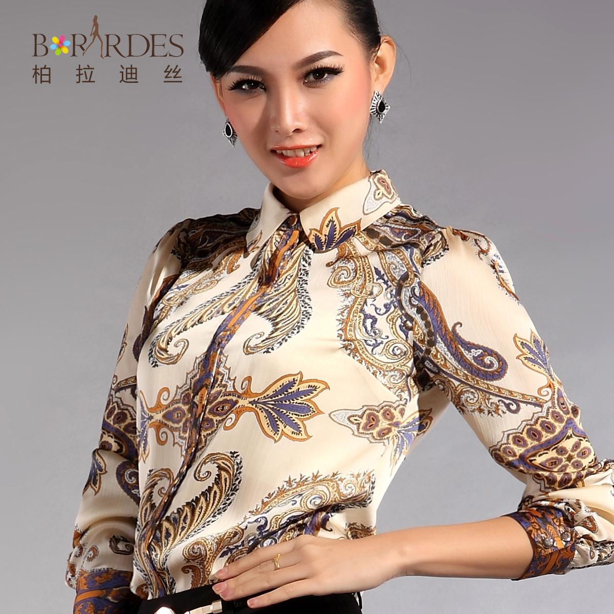 Summer skirts women's 2013 fashion vintage print faux silk chiffon ...