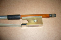 Nice violin bow 4/4 White OX horn frog , copper mounted