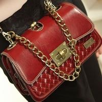 Fashion knitted vintage clutch one shoulder cross-body small bags handbag chain bag 2014 women's handbag