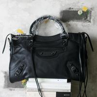 Genuine leather sheepskin motorcycle bag handbag one shoulder women's handbag hardware fashion