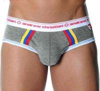 MAN STORE Andrew C male trigonometric panties u sacheted  cotton striped pants fashion comfortable  briefs men's underwear