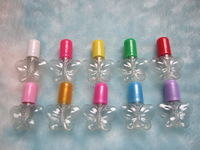 5ml butterfly shape clear nail polish bottle empty plastic nail bottle with blush cosmetic packaging container