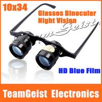 BRAND BIJIA Night vision 10 x 34 Zoom Glasses Style binoculars HD Blue Film Telescope for Fishing Look Drift Polarized glasses