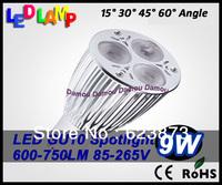 New Concept High Power CREE GU10/E27/GU5.3  9W 12W 85V-265V for worldwide Led Light Lamp Led Spotlight china post 5 pcs