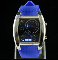 Freeshipping 2013 Dropshipping New Black Luxury&Sport& Fashion Digital LED Watch Silicone for Lady/famale women&Men