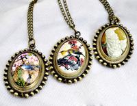 Egg-shaped Medium series pocket watch necklace vintage accessories necklace pocket watch
