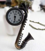 Saxe pocket watch necklace vintage accessories fashion pocket watch necklace