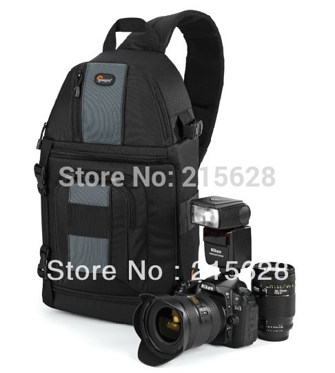 FreeShipping New Lowepro SlingShot 202 AW Photo Camera Sling Shoulder Bag DSLR Digital SLR Backpack+Rain Cover for nikon D700(China (Mainland))