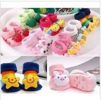 Free shipping,10pairs/lot,Newborn three-dimensional style of socks,baby shoe socks