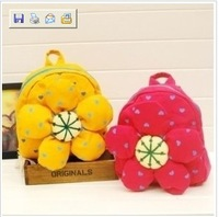 free shipping sunflower Child cute little school bag children backpack bag baby