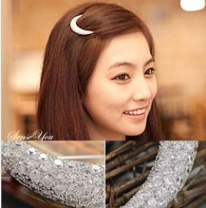 Ocean store fashion rhinestone full moon rhinestone hair accessory (min order $10)F103