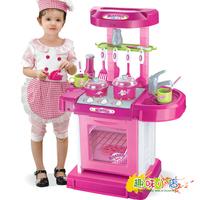 Child Toy Artificial Sooktops Tableware Toy Belt Storage Box Girl Version Kitchen Toy