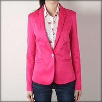 2013 spring and autumn fashion stripe lining slim candy color one button blazer women's blazer