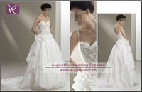 AWB0295 Latest Romantic Spaghetti Stap Transparent Corset  Wedding Dress