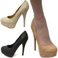 Platform high-heeled shoes women shoes single  round toe high-heeled female vintage ultra