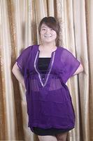 Free shipping 2013 fashion v-neck, hot beads, chiffon batwing coat, 100% in-kind shooting