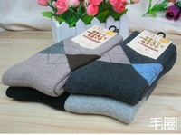 Free shipping nap socks winter section, warm, thick, comfortable, sweat, deodorant, socks,Top grade men's business casual socks