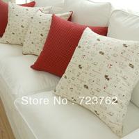 British style office zakka fluid pillow car lumbar pillow sofa cushion covers 45x45cm home decor linen cushion cover