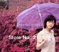 Four colors choice for princess umbrella beach umbrella  straight umbrella backtack type apollo transparent umbrella
