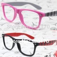 Free shipping fashion vintage big black women's men's eyeglasses frame CR046