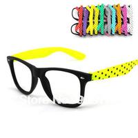Free shipping wholesale fashion vintage meters black plain glass lens myopia eyeglasses frame CR016