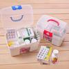 2pc/lot,Health care multi-purpose multi-layer pyxides kit home first aid kit Medium medicine box pill organizer container