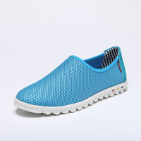 free shipping Male breathable shoes network hole shoes lazy skateboarding shoes plus size men 45 46 47 48