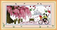 Mona lisa cross stitch print cross stitch big picture bicycle lovers