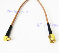 SMA-MCX Pigtail Cable   SMA Male  Connector  to MCX Male Right Angle Connector  RG316 Cable 15cm 6""