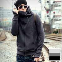 Hot sale! Free shipping 2012 autumn and winter new men hooded sweater men Slim jackets