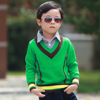 Children boys fake two piece sweater,kids cotton turn-down collar pullover sweater,child outwear clothing,Y30