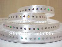 50Y1615 3/8'' Diamond silky satin ribbon wedding free shipping