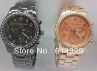New men and women watch with diamond with calendar
