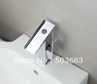 Luxury Chrome One Handle Deck Mounted Bathroom Basin Waterfall Faucet Mixer Taps Vanity Faucet L-6062